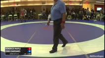 65kg Consi of 8 #1 Kendric Maple (United States) vs. Chris Dardanes (United States)