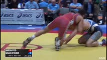 65 Semi-Finals - Aaron Pico, Titan Mercury Wrestling Club vs Logan Stieber, Titan Mercury Wrestling Club