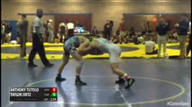 133 Semi-Finals - Anthony Tutolo, Kent State - Unattached vs Taylor Ortz, Clarion - Unattached