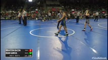 105 Round of 32 - Braxton Bacon, Owasso Wrestling Club vs Juan Garcia, Bear Cave