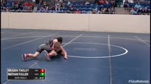 100 Semi-Finals - Braden Tinsley, Bristow Elementary Wrestling vs Nathan Fullen, Bridge Creek Takedown Team