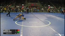 67 Consi of 8 #2 - Thomas J Verrette, SOT Academy vs Hudson Loges, MWC Wrestling Academy
