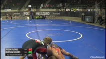 90 2nd Place - Ayden Flores, Maize Wrestling Club vs Hudson Rogers, Delchev Trained Academy-DTA