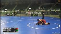 130 2nd Place - Brandon Boyce, ReadyRP National Wrestling Team vs Jacob Navarro, Nbwc