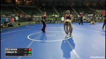 157 2nd Place - Cole Hivnor, Mentor Lake Catholic vs Jaziah Whaley Jr., Mile High Wrestling Club