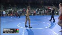 160 3rd Place - Logan Badge, Clinton Wrestling Club vs Woodrow Foster, Fulton Wrestling Club