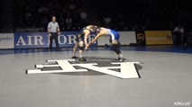 184 Dylan Gabel, Northern Colorado - 12 vs Zen Ikehara, Air Force - 13