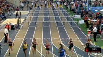 Girl's 60m Hurdles, Round 2 Heat 1