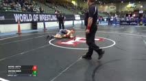 145 2nd Place - Michael Abeyta, McMinnville Wrestling vs Braydon Huber, Team Real Life