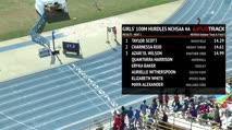 Girl's 100m Hurdles 4A, Heat 1