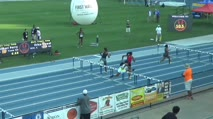 High School Girl's 100m Hurdles, Heat 2
