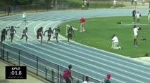 High School Boy's 100m, Final