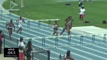 High School Girl's 100m Hurdles, Final