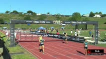 Girl's 100m Hurdles Prep, Heat 3