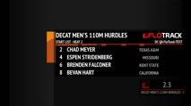 Men's Decathlon 110m Hurdles, Round 6 Heat 2