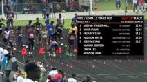 Ms Girl's 100m, Round 2 Heat 1 - Age age 13