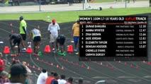 Girl's 100m, Round 2 Heat 1 - Age 17-18