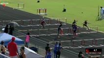 Girl's 80m Hurdles, Round 1 Heat 1