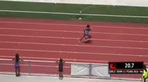 Ms Girl's 200m, Round 1 Heat 4 - Age age 11