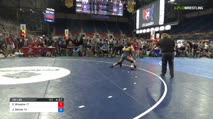 132 Quarter-Finals - Cara Broadus, Connecticut vs Jenna Garcia, California