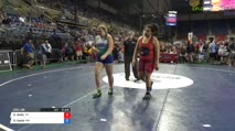 225 Quarter-Finals - ShaMiia Wells, Tennessee vs Samantha Apple, Missouri